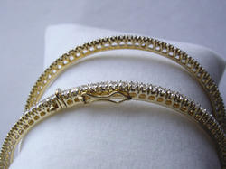 92.5% Sterling Silver Gold Plated Bangles
