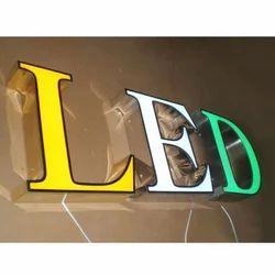 Acrylic LED 3D Crystal Sign