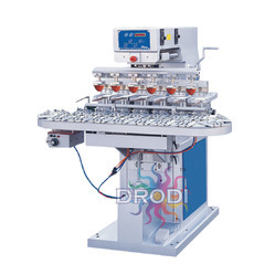 6 Color Pad Printing Machine with Conveyor