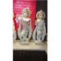 White Stone Radha Krishna Statues