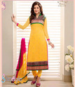 Marvelous Yellow Georgette Salwar Suit