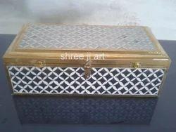 Glass Work Wooden Box