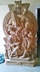 Radha Krishna In Wood 6 Feet