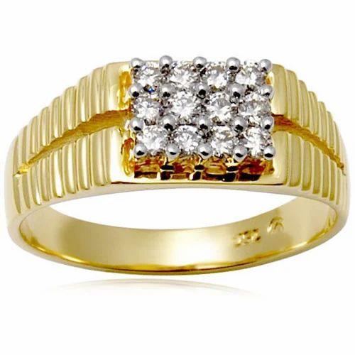 Yellow Gold Men S Diamond Ring