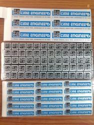 Screen Printed Stickers withstanding 120 Deg.Temp.