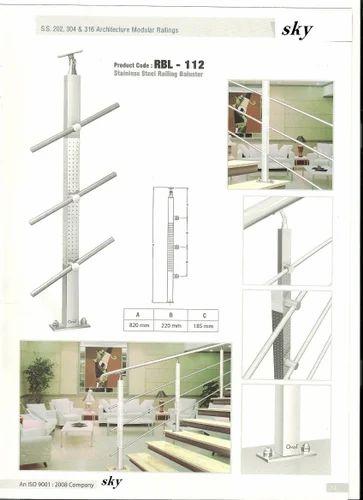 Stainless Steel Staircase Railing Designs in Kk Nagar ...