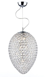 Beaded Pine Pendant Light