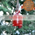 Red Cow Bell With Golden Painting - Custom Design