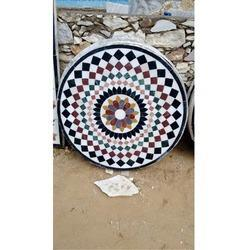 White Marble Chakta Table Tops