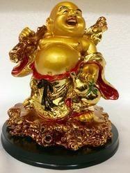 Laughing Buddha Happy Man Chinese Feng-Shui Kuberar Stat