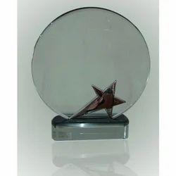Silver Star Crystal Trophy