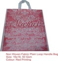 Non Woven Fabric Plain Loop Handle Bag