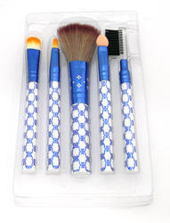 Blue Makeup Brush Set