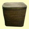 Wicker Square Laundry Basket