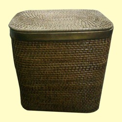 Wicker Square Laundry Basket