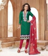 Designer Suit In Green And Red