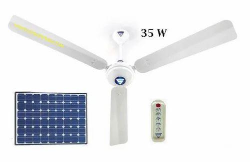 DC Solar Ceiling Fan