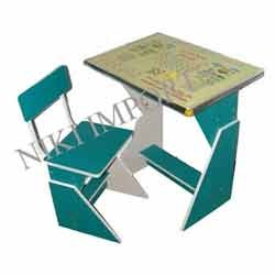 Kids Study  Wooden Table