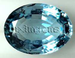 Aquamarine Faceted Oval Gemstone