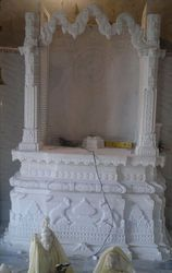 Indoor White Carved Stone Temple