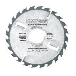 Thin-Kerf Multi-Rip Saw Blades with Rakers