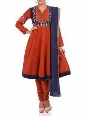 48adb91c3d4 Biba Rust Anarkali Cotton Suit Set at Rs 3999