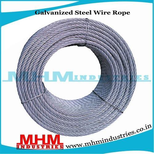 Galvanized Steel Wire Rope, Steel Wire Rope - MHM Industries (A Unit ...