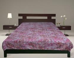 Kantha Gudari New Paisley Design Bed Cover