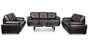 Modern Black Sofa Set, Seating Capacity: 7 Seater