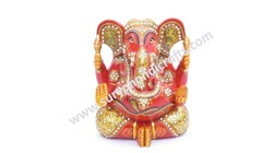 Wooden Antique Painting Ganesh