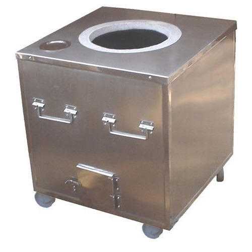 SKE Square SS Tandoor Oven for Commercial