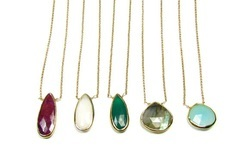 Gemstone Bezel Set Necklace