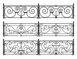 Panel Iron Railing