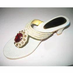 White Fancy Sandals