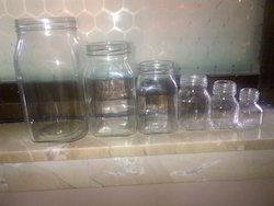 Square Honey Glass Jar