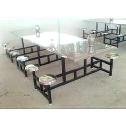 Industrial Stainless Steel Dining Table With SS Top Part 39