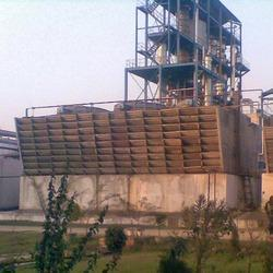 Three Phase Counter Flow Chemically Treated Wooden Tower, For Industrial, Natural Draft