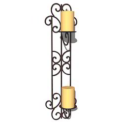 Wrought Iron Pillar Sconce