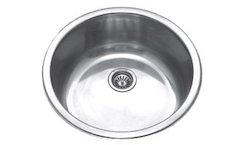 Stainless Steel Round Bowl Kitchen Sink, Depth 7 inch