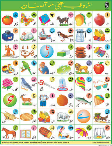Alphabet charts hindi alphabet chart manufacturer from delhi urdu alphabet chart gumiabroncs Gallery