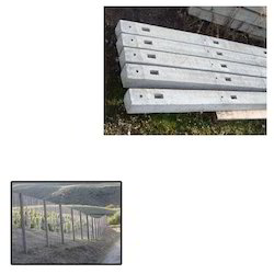 Cement Fencing Poles for Warehouse Fencing