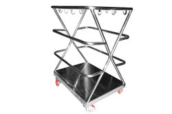 Stainless Steel Used Apron Trolley