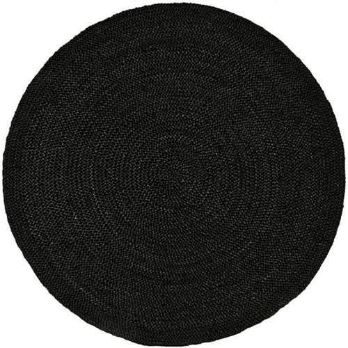Gautam Jute Black Braided Rugs For