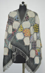 Wool Embroidery Stole