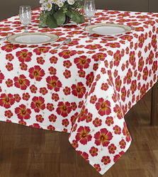 Azalea Flower Print Table Cloth