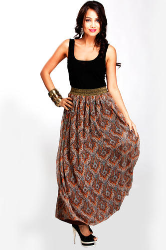 Designer Skirts - Long Printed Skirt Exporter from Gurgaon