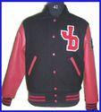 Black  JD Letter Varsity Jacket
