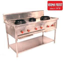 Three Burner Stainless Steel Gas Stove, For Kitchen