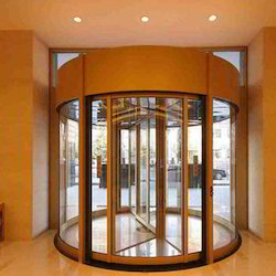 Automatic Revolving Glass Door