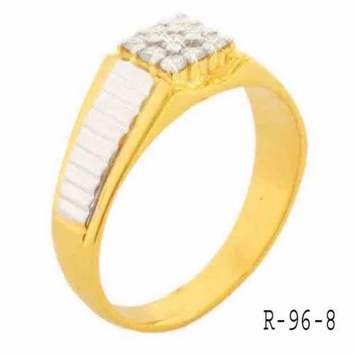 White Gold Designer Mens Rings Gold Diamond Men Rings